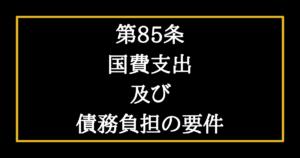 日本国憲法第85条